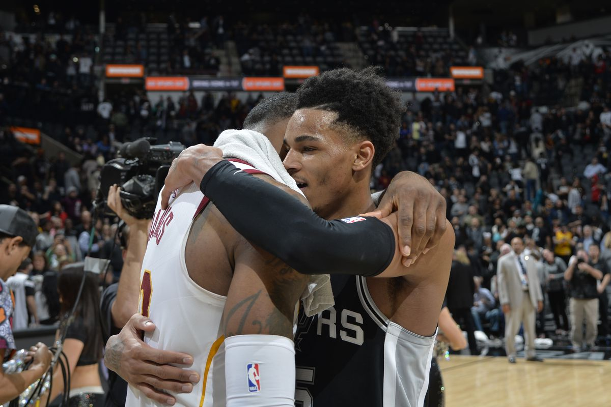 new product 3b4ef d7614 Dejounte Murray worked out with LeBron James - Pounding The Rock