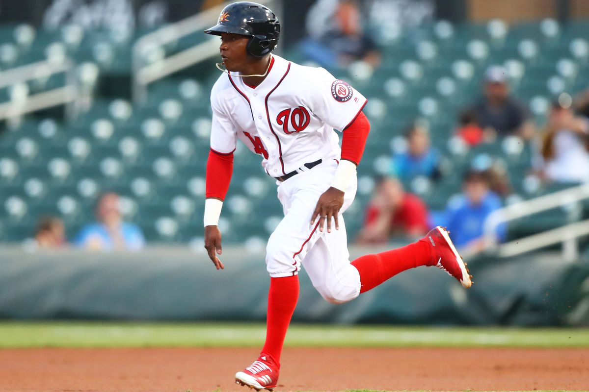 best sneakers 22f3d 3e834 Washington Nationals' prospect Victor Robles collects two ...