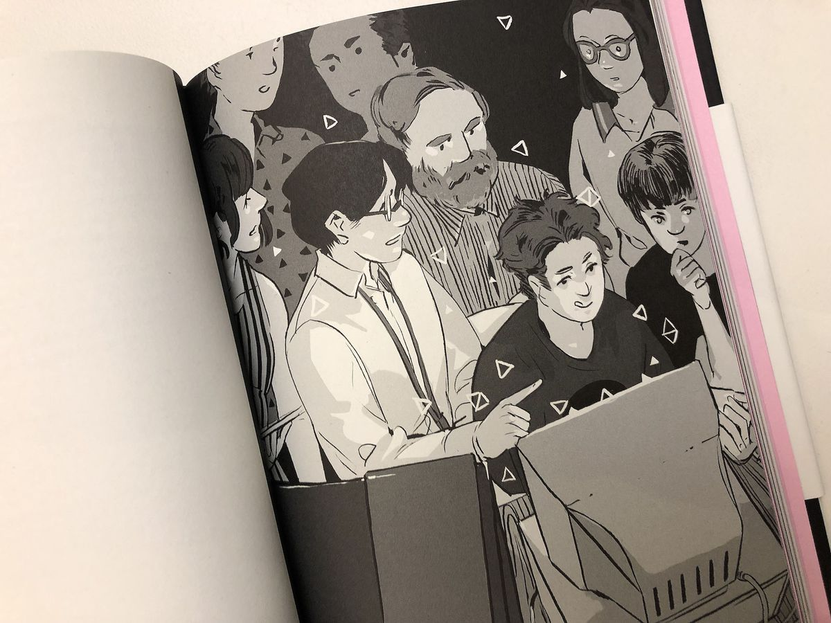 500 Years Later: An Oral History of Final Fantasy VII - photo of illustration of developers huddled around a computer