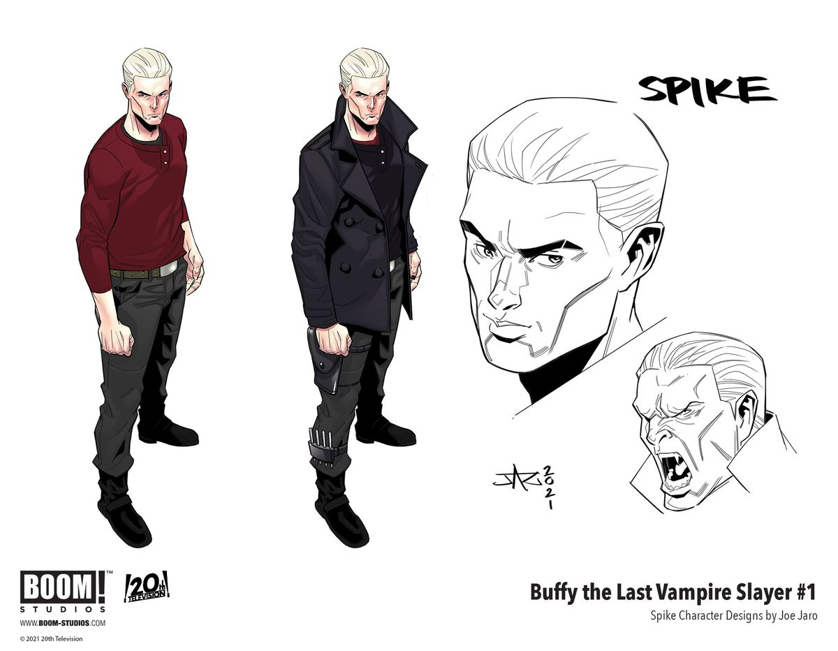 Buffy The Last Vampire Slayer - concept art of Spike, the vampire portrayed by James Marsters
