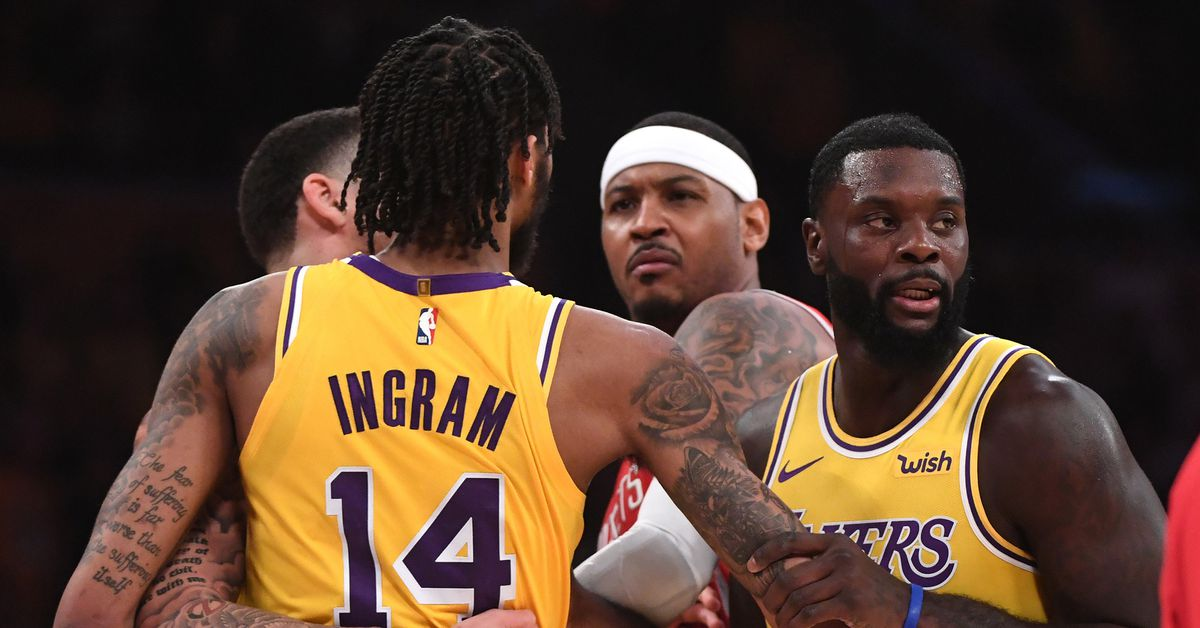 A spit take on the Lakers' suspensions