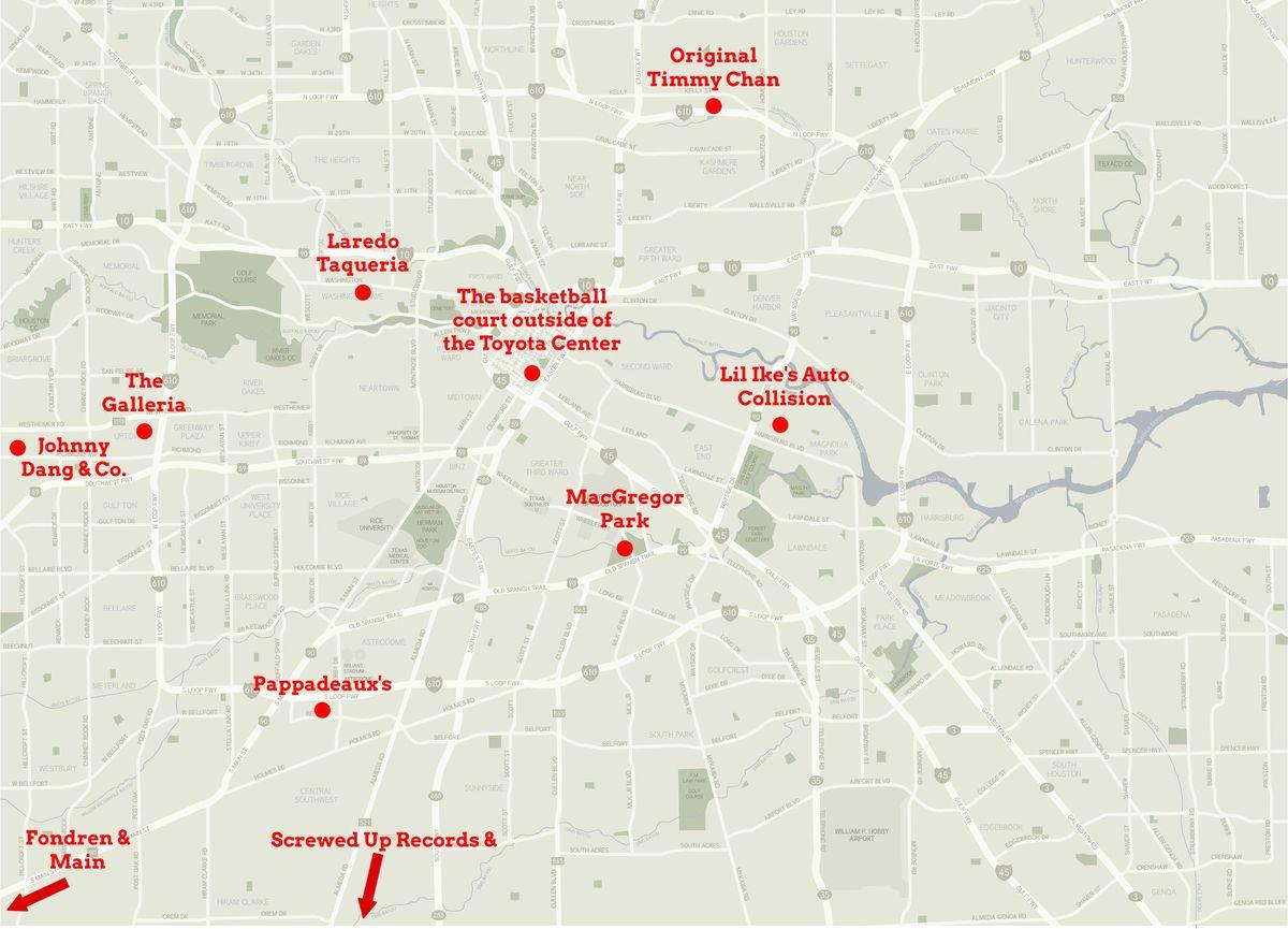 A map of Shea's Houston. Click toexpand.