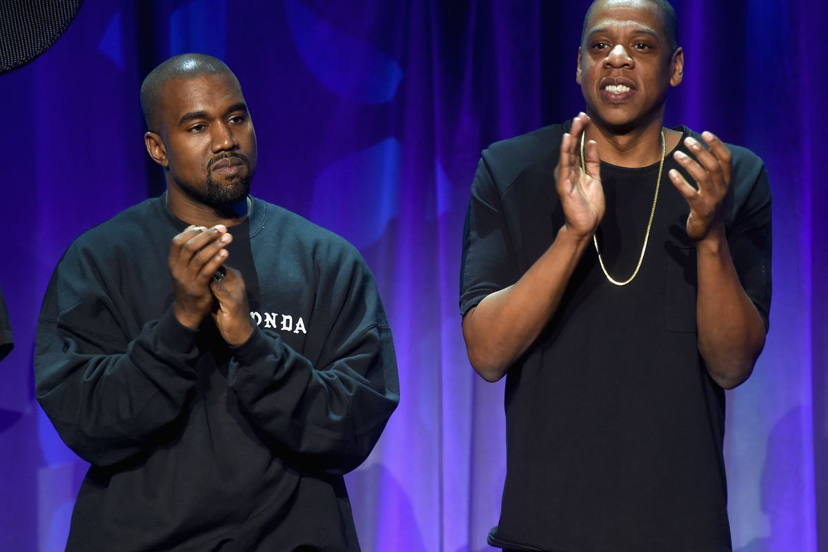 Jay-Z and Kanye clap for Tidal