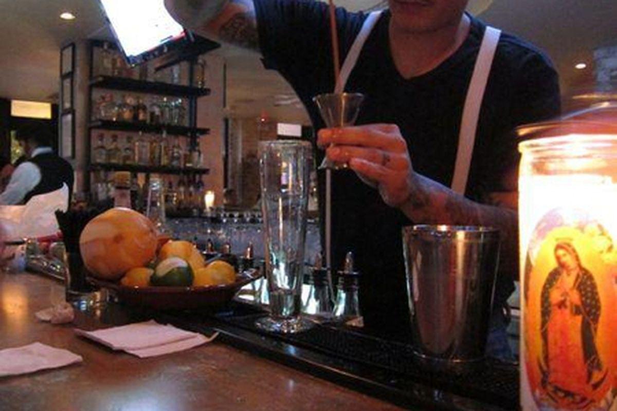 The bar at Escorpion.