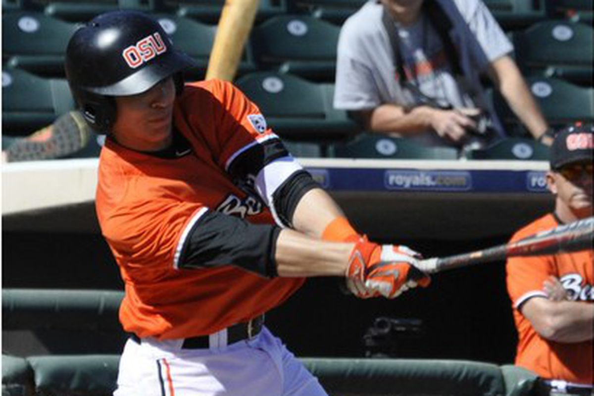 Nick Madrigal hammered the ball in Surprise for the Beavers.