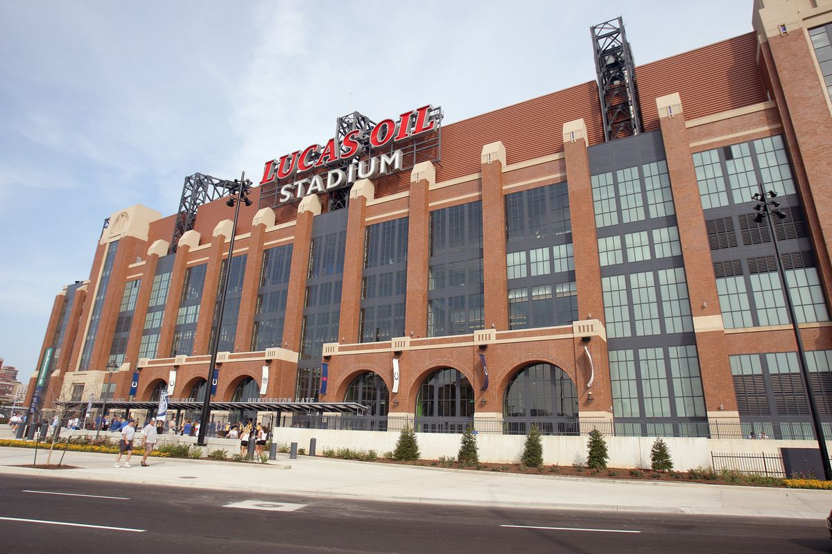 Lucas Oil Stadium, the site of the 2018 NFL Scouting Combine in Indianapolis, Indiana