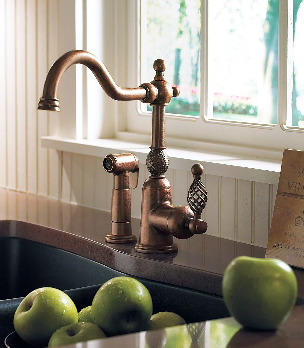 Kitchen Faucet With Brass Finish