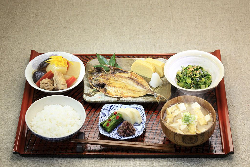 A traditional Japanese meal