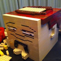 Doug (@captainannoying) brought the Legos and the craftwork to make it happen