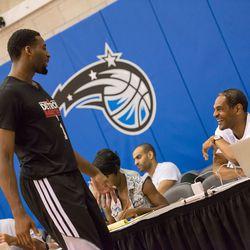 Coach Cheeks greets Drummond