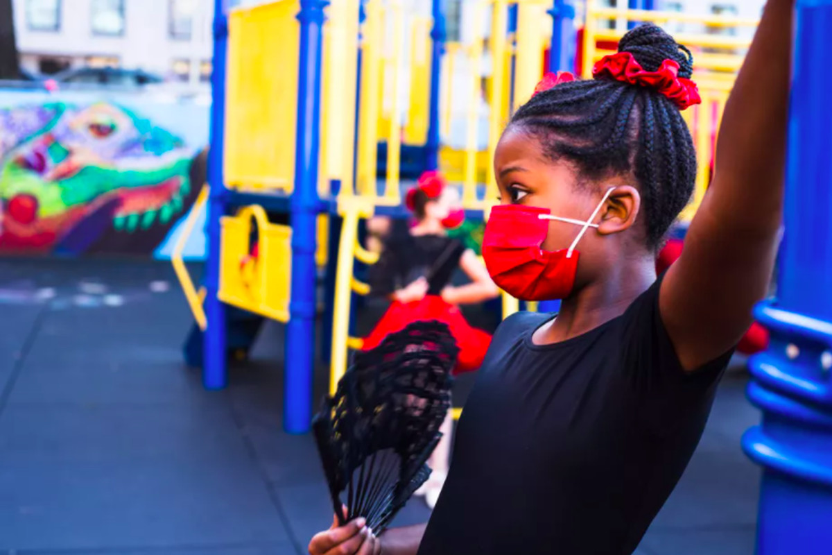 Students at Brooklyn's P.S. 9 performed the 'Nutcracker' with tutus and masks.
