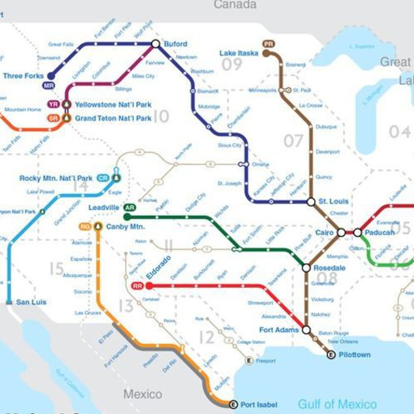 Rivers Subway Map.Mapping U S Rivers Like A National Subway System Curbed