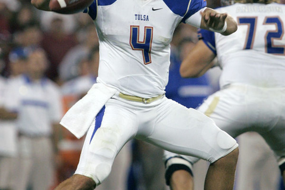 G.J. Kinne, TU's best player, who did nothing to prove that point last year in the Golden Hurricane <strong>65-28</strong> embarrassing loss to OSU.  (Photo by Brett Deering/Getty Images)