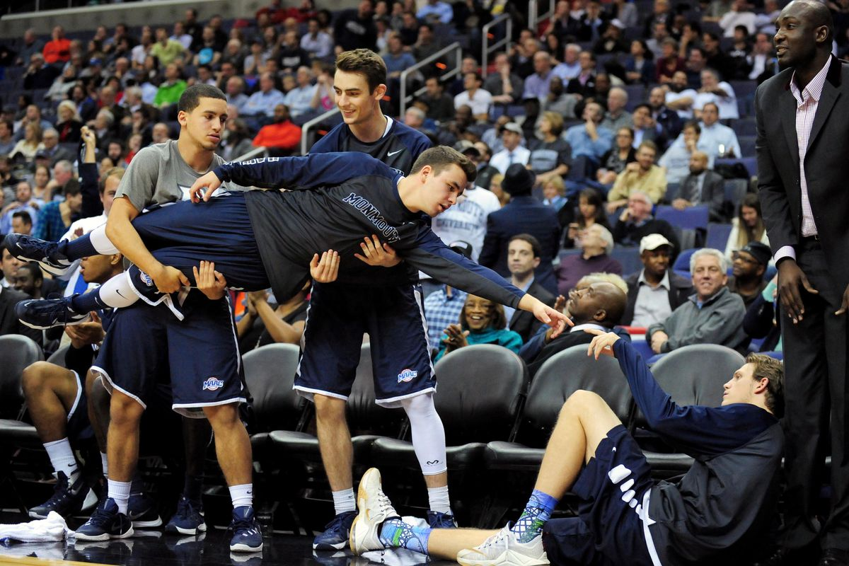 They're playing for the MAAC title today.  Of course the pic is the Monmouth bench.