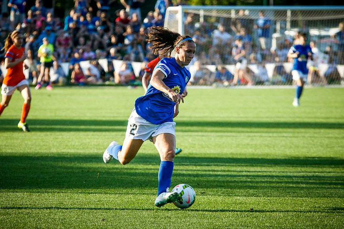 FCKC forward Shea Groom launching an attack in their recent match against Houston.