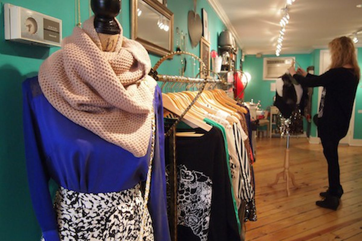 Aoki store owner Alina Alter puts her styling skills to work in her Rittenhouse shop