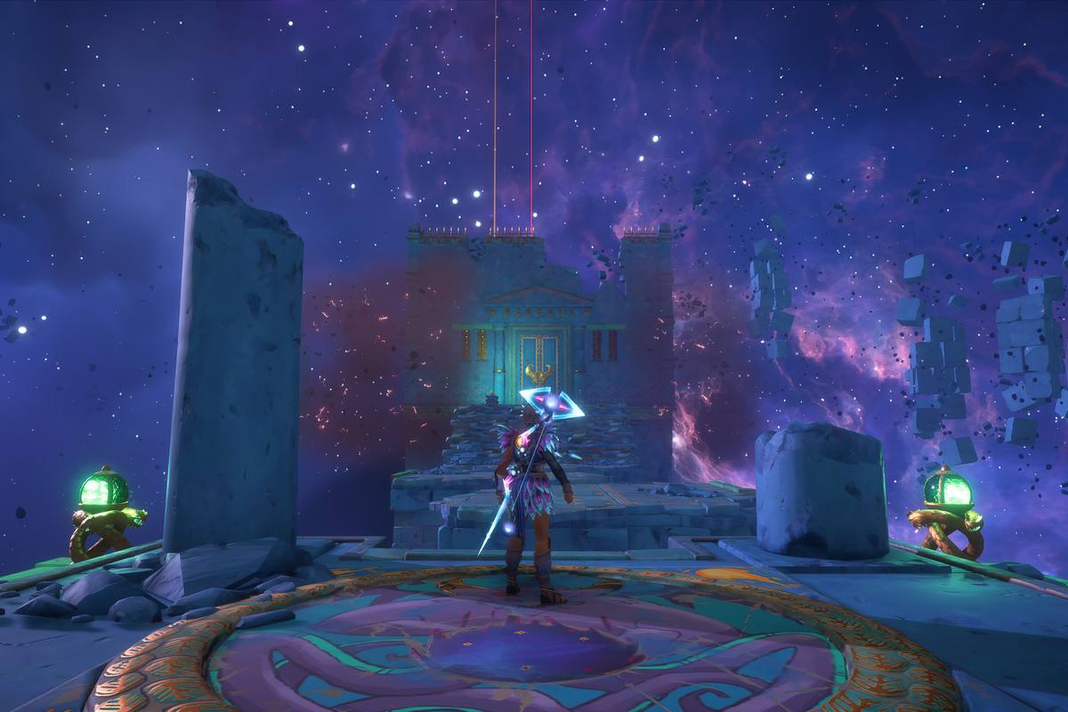 The entrance to The Serpentine Monster Vault of Tartaros in Immortals Fenyx Rising