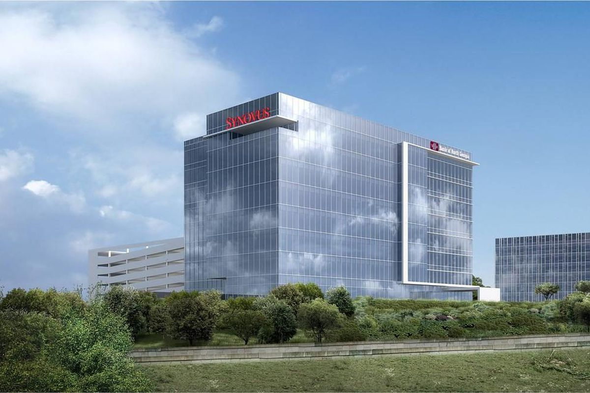[The building concept with Synovus signage. Images: TPA Group via ABC.]