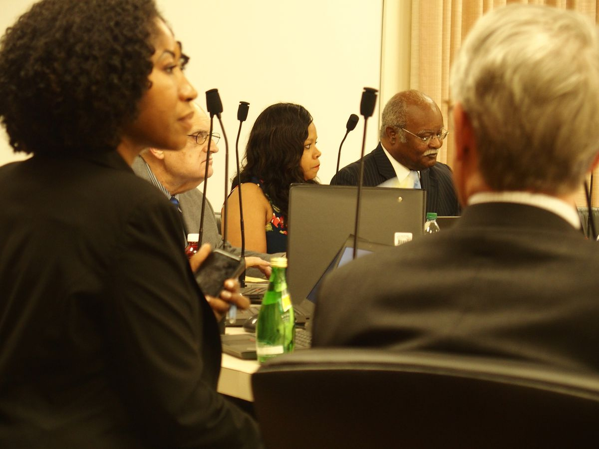 The school board gathered in June to hear an appeal from Teli White, the football coach fired for improper grade changing at Trezevant High School.