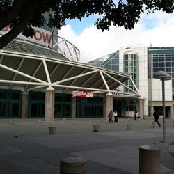 It is misleadingly quiet outside the LA Convention Center.