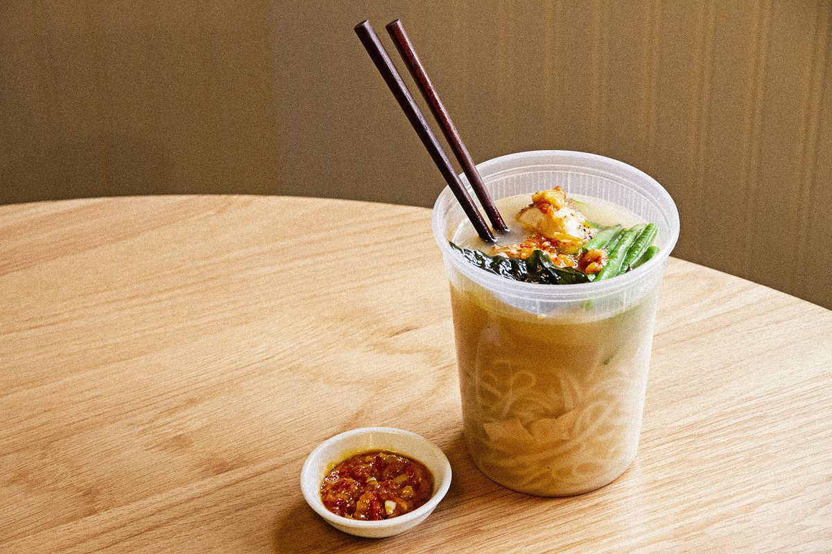 The Thai chicken noodle soup from Chop Chop