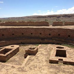 This August 2012 photo shows the Great Kiva and Casa Rinconada, Chaco Canyon, in northwestern New Mexico. Chaco Canyon, the center of a culture that flourished from the 800s to the 1100s, is run by the National Park Service and is accessible only via dirt road.