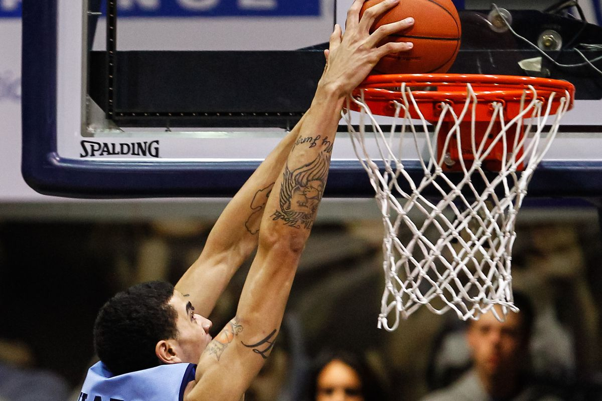 Scouting reports indicate Jordan Hare has no trouble dunking.