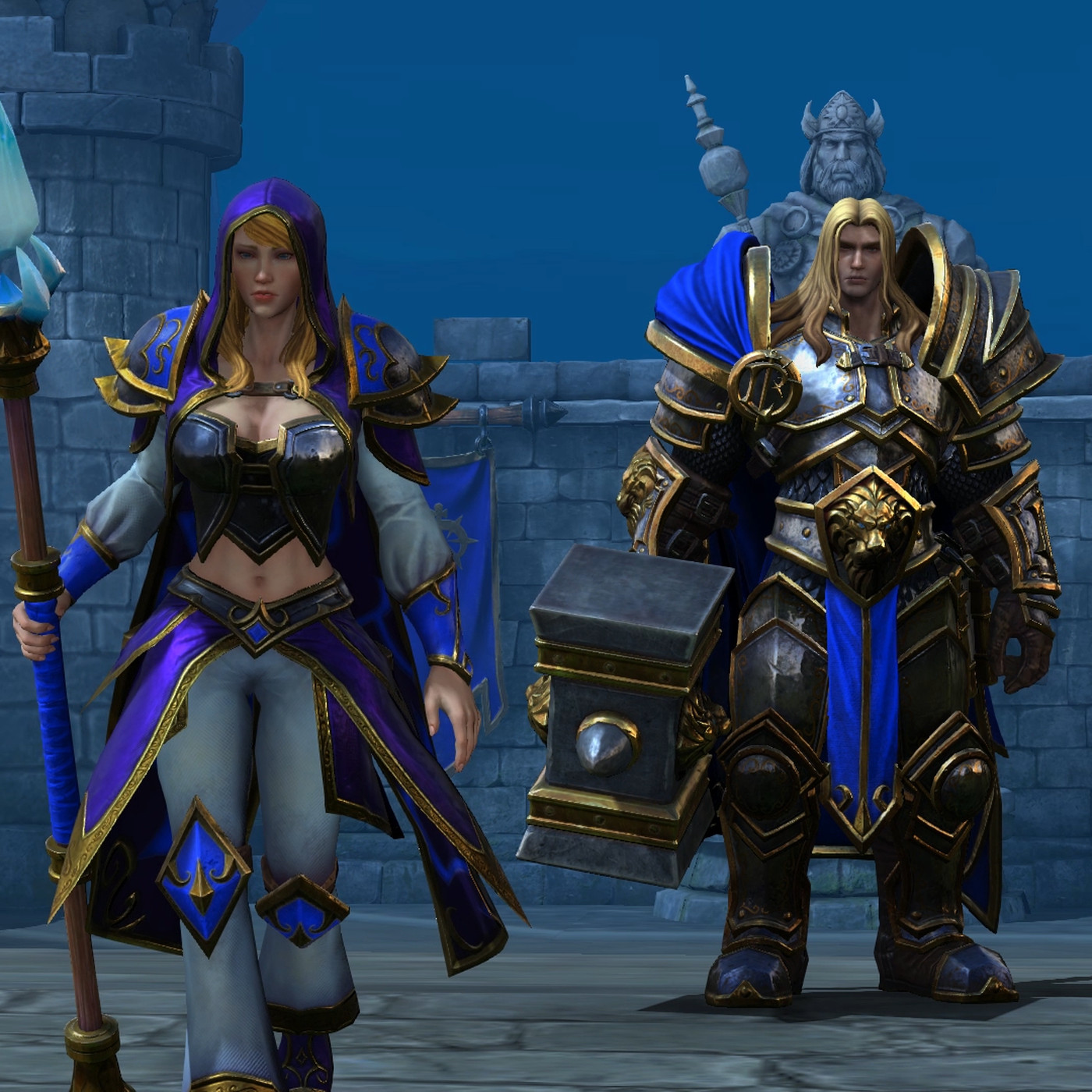 Jania and Arthas Warcraft 3