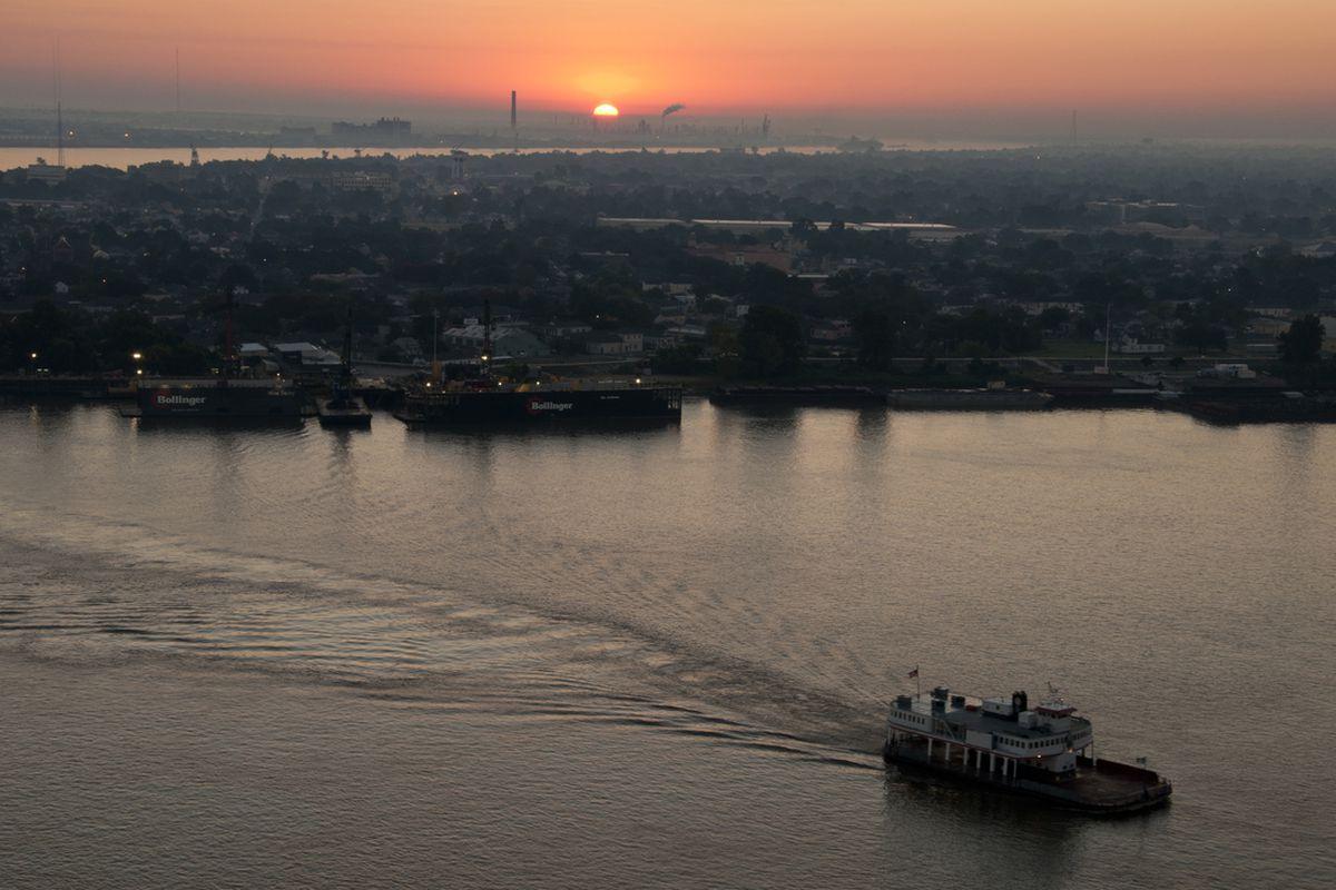 Sunrise in New Orleans, Louisiana