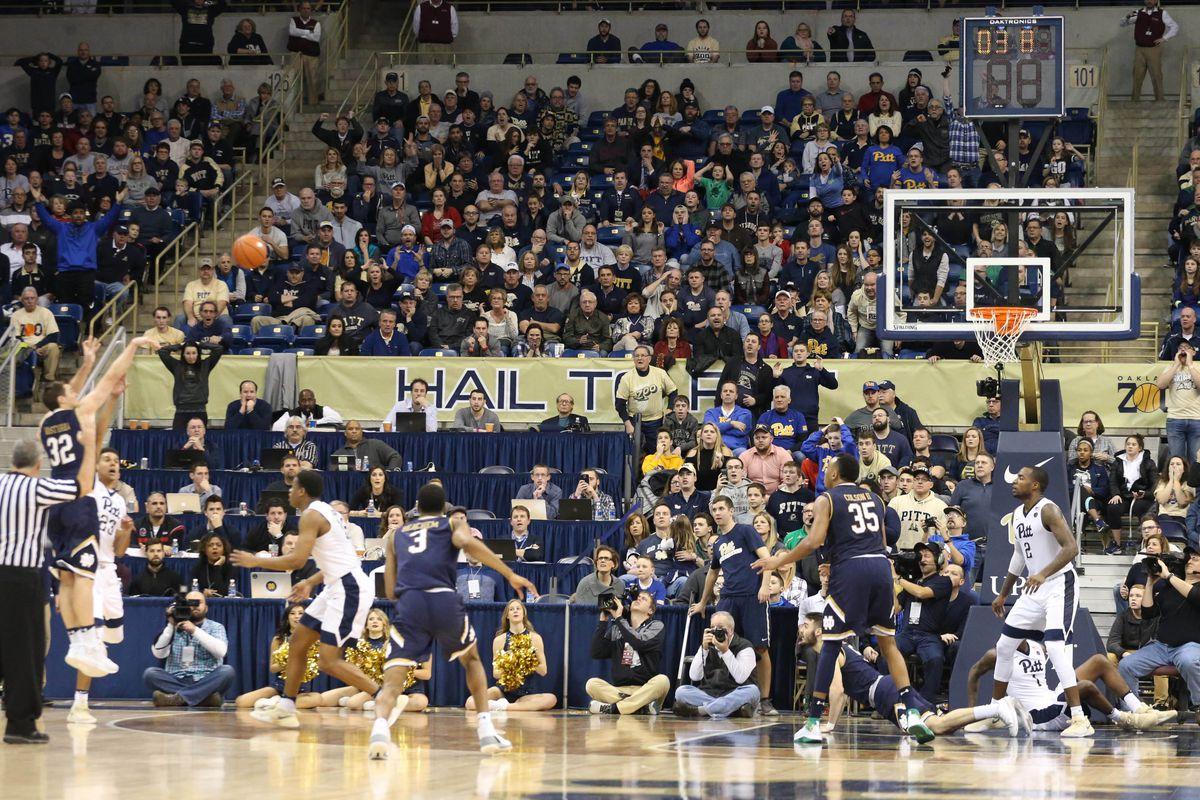 NCAA Basketball: Notre Dame at Pittsburgh
