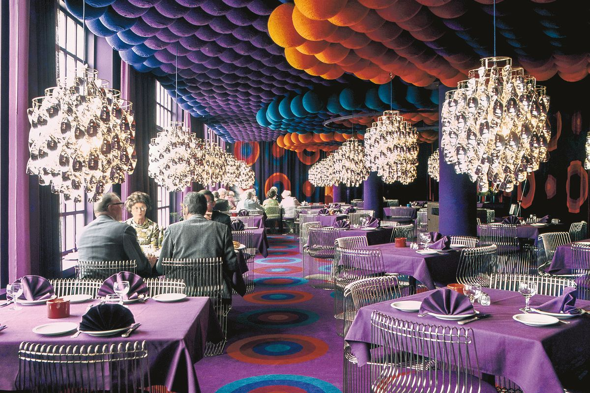 Verner Panton's groovy interiors were designed to trip you
