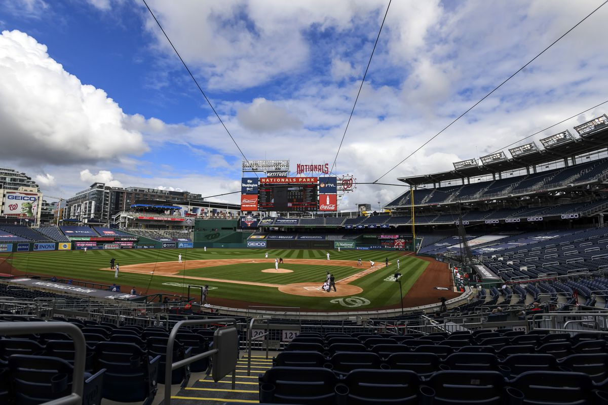 A general view during the New York Mets versus the Washington Nationals on September 27, 2020 at Nationals Park in Washington, D.C.