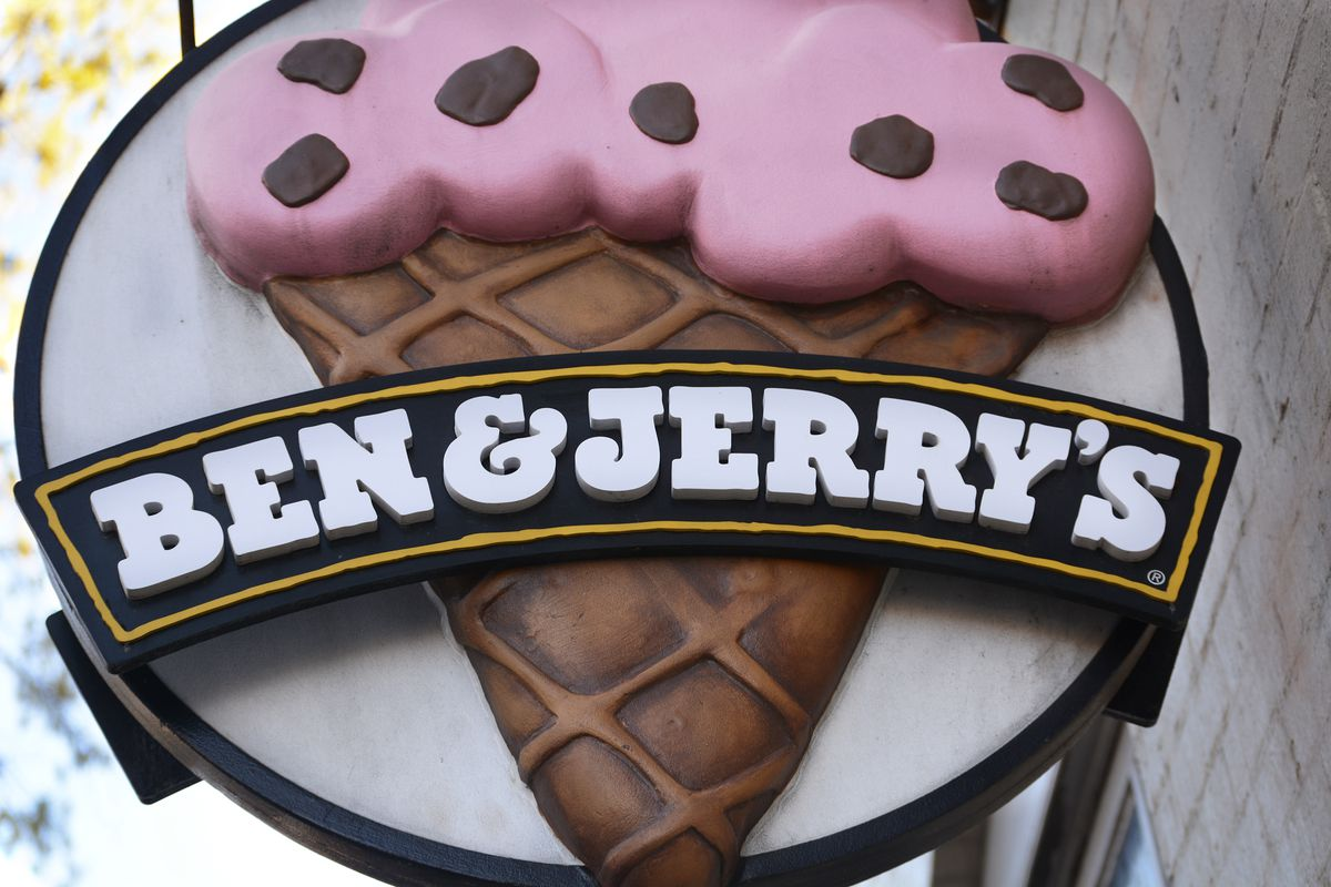 The Ben and Jerry's logo in America