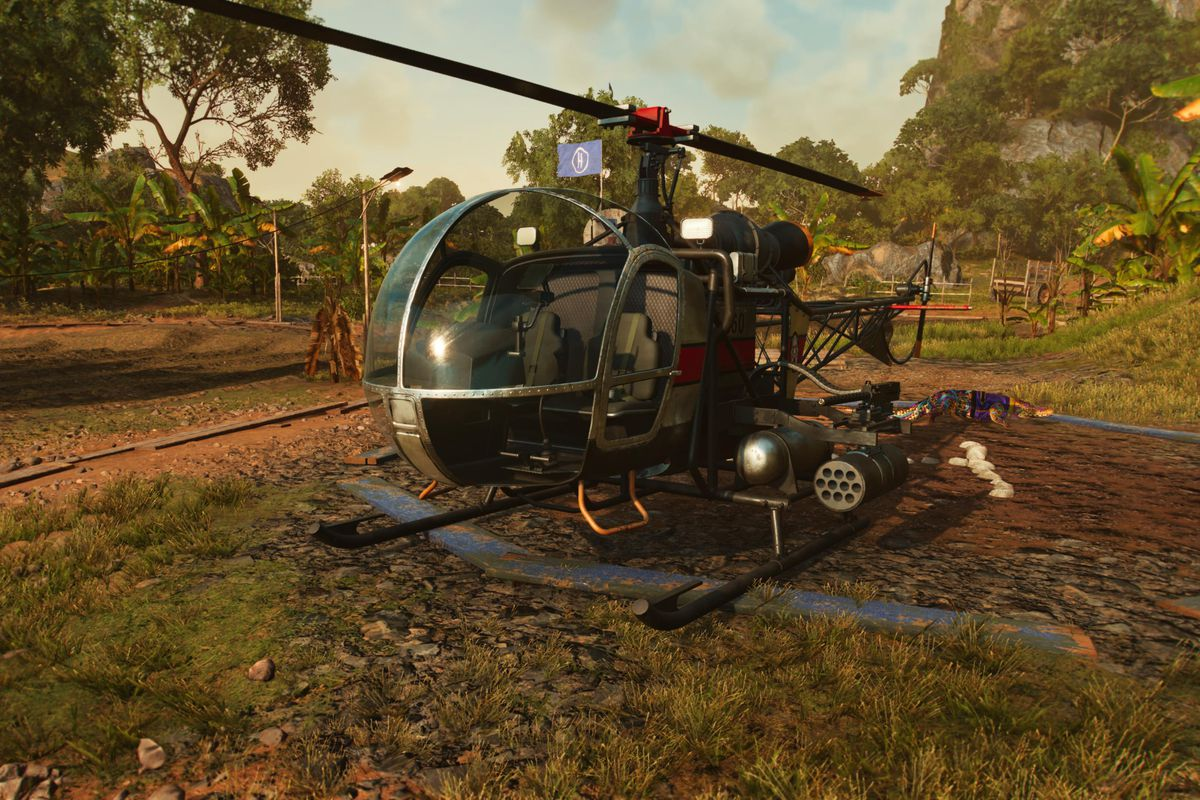 A helicopter in Far Cry 6