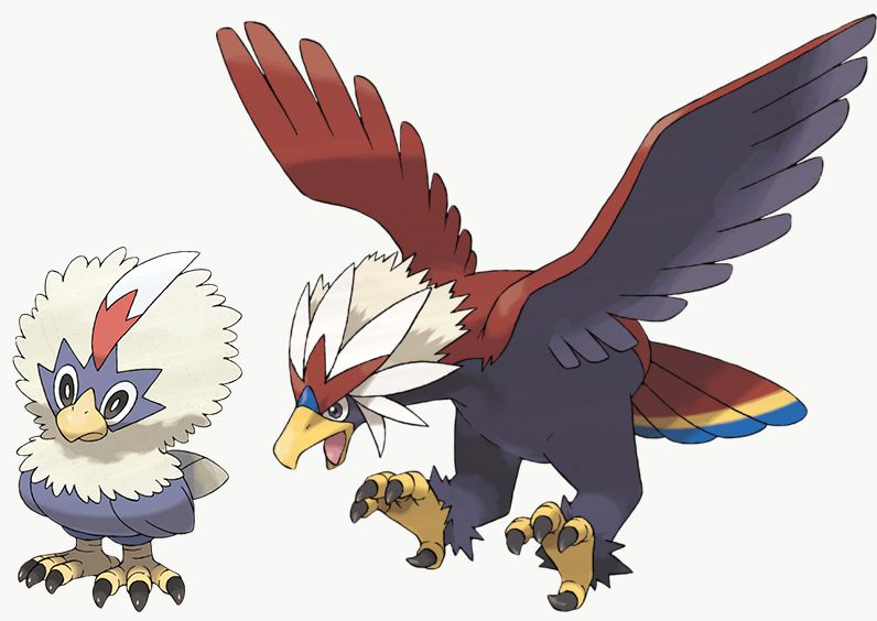 Rufflet and Braviary are exclusives in Pokémon Sword