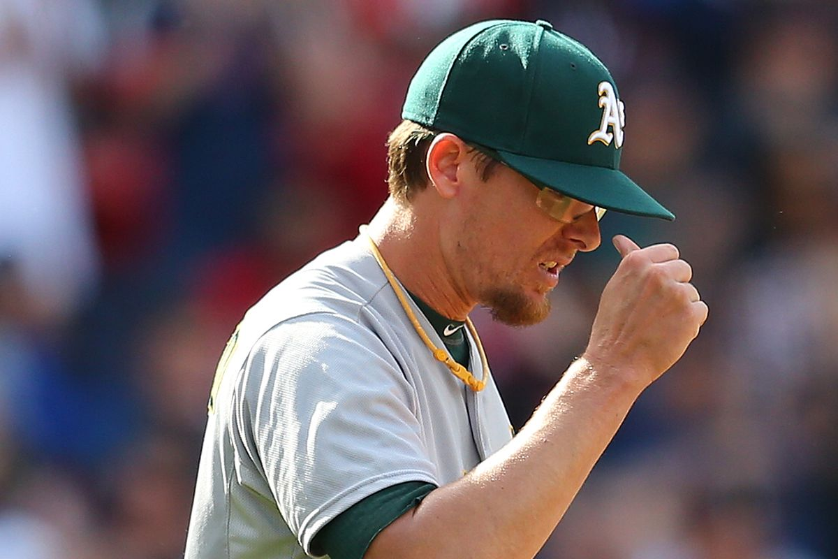 Tyler Clippard deservedly wants to poke his eye out for blowing the save, but unfortunately he is wearing protective eye glasses.
