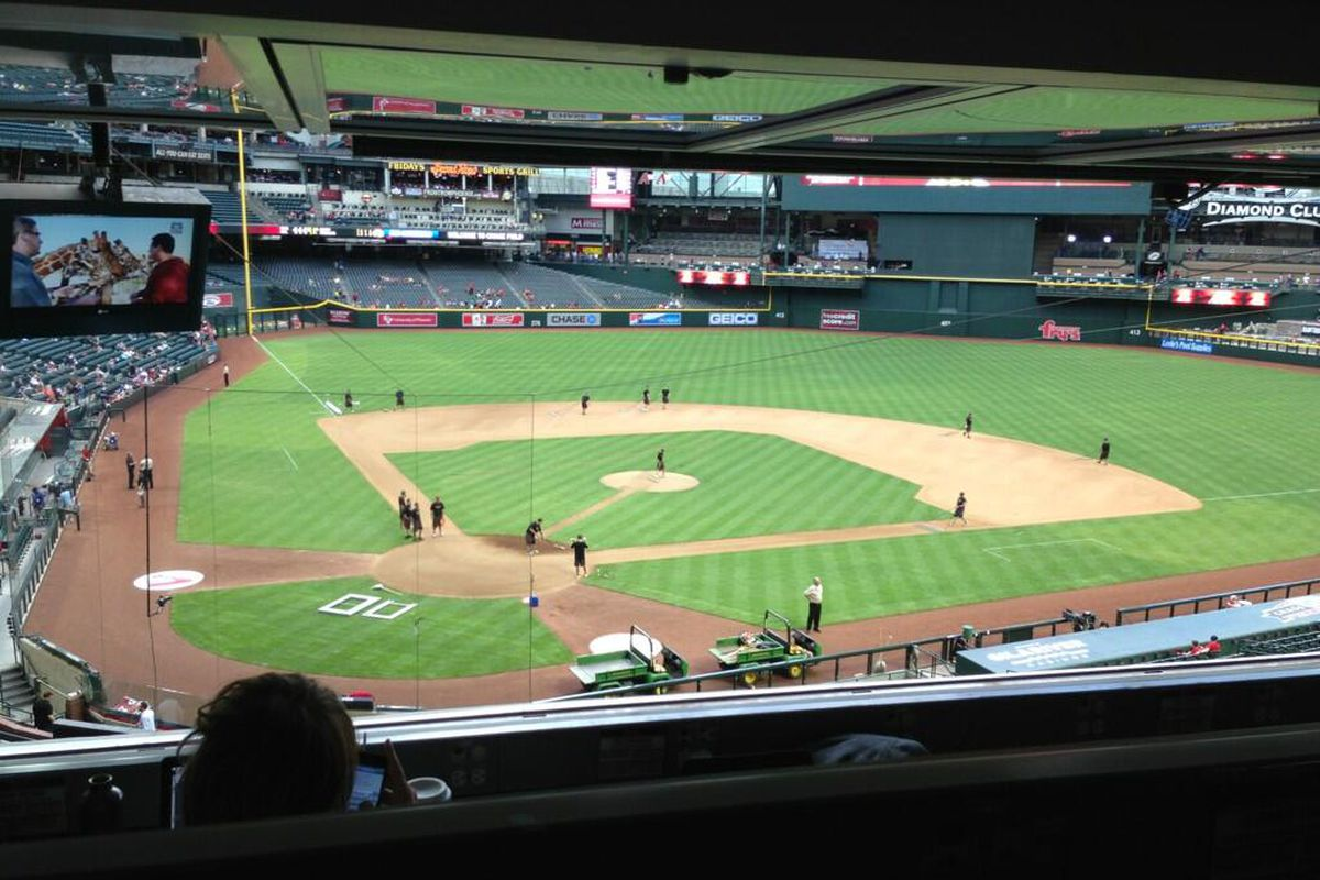 Awesome view from the press box! #GoDBacks