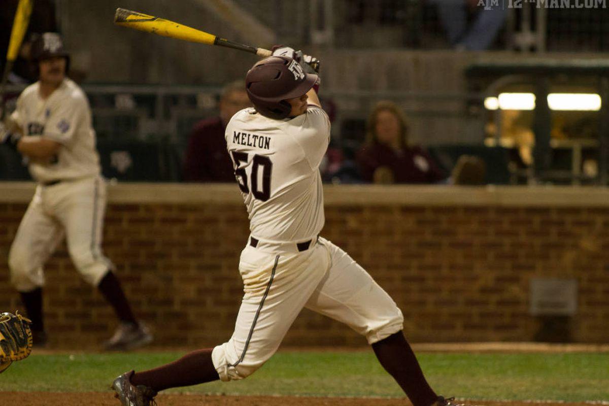 Hunter Melton hits a grand slam last night.