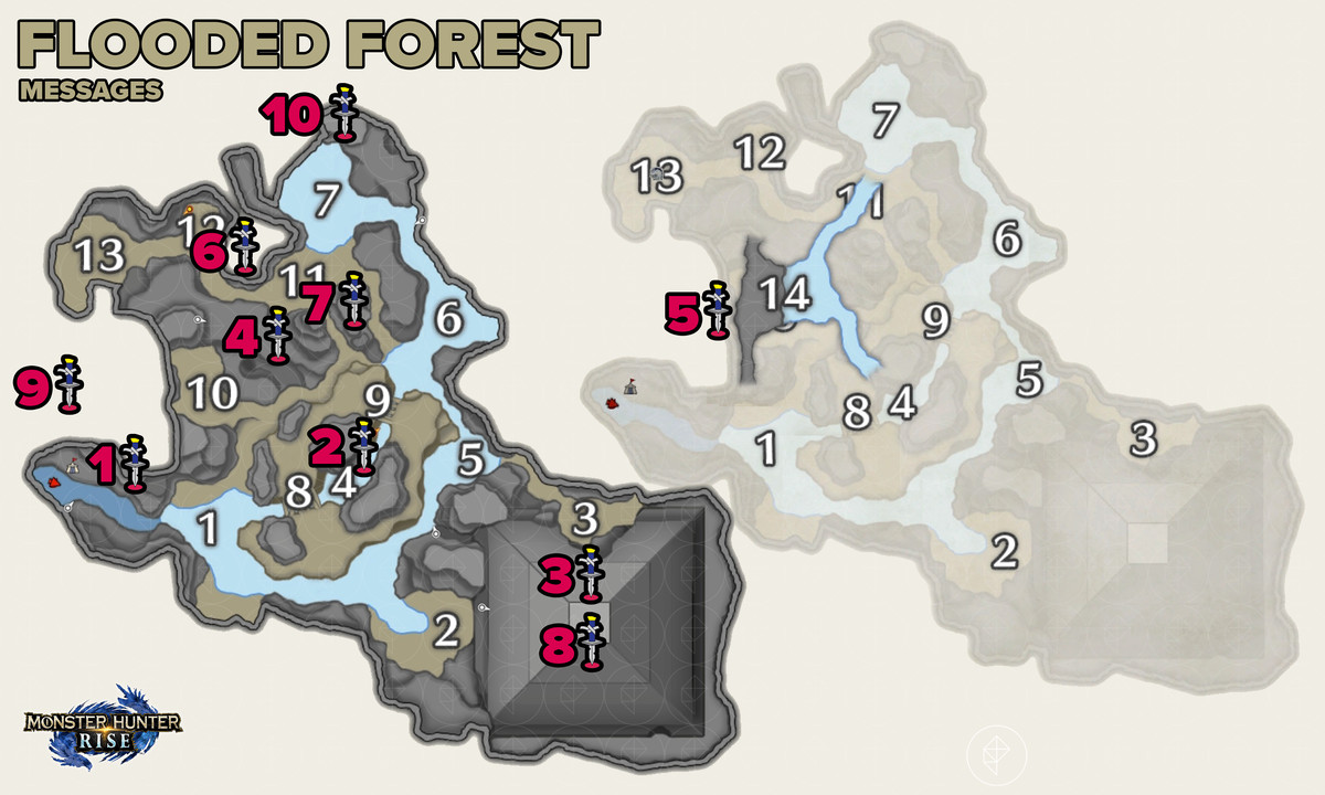 Monster Hunter Rise guide: Flooded Forest collectible relic records locations