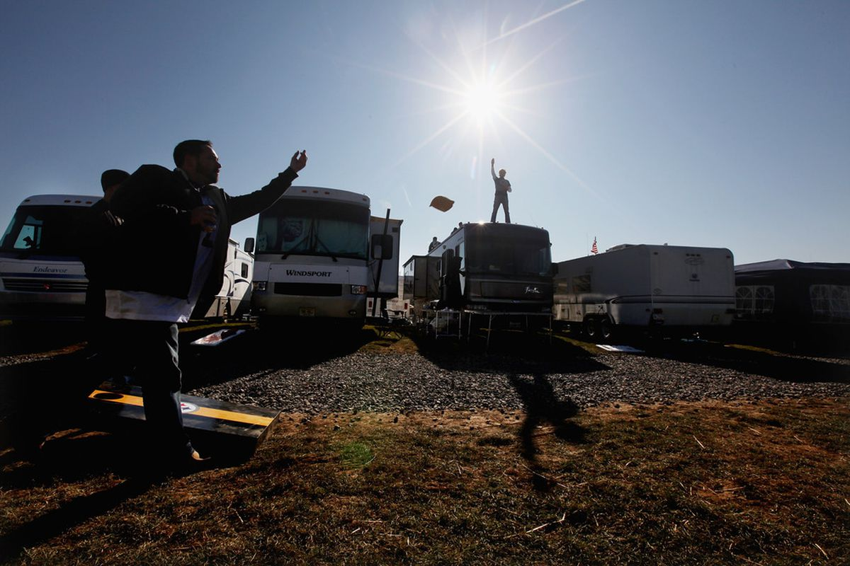 Tailgating is a major part of the college football fan experience.
