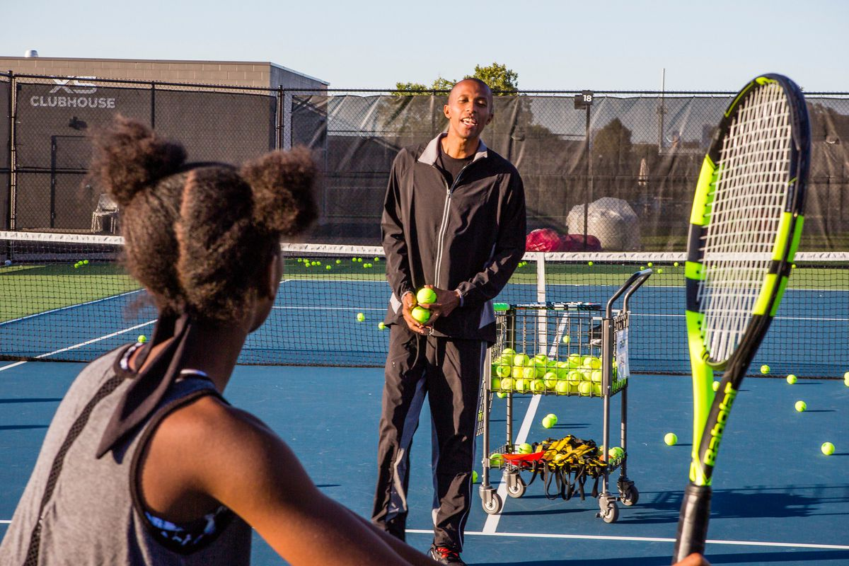 Kamau Murray Founder and CEO of the XS Tennis Foundation,Tuesday, October 8th, 2019. | James Foster/For the Sun-Times