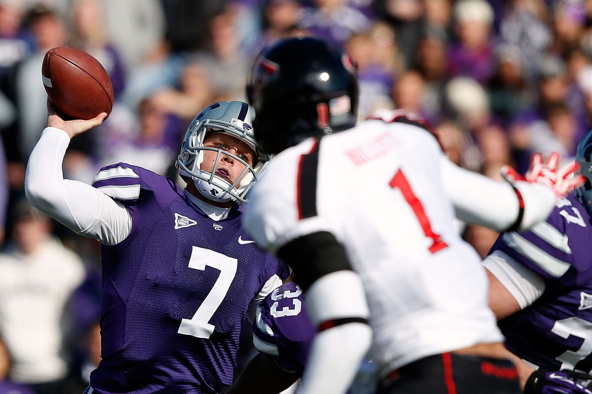 Kansas State has the top spot for now, but they are running out of schedule power..