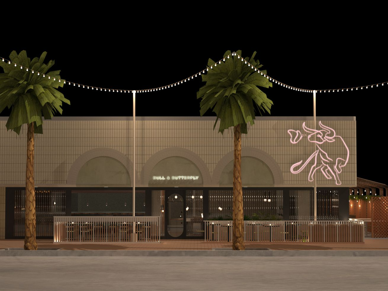 bull and butterfly steakhouse rendering beach