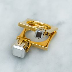 Glory and Honor two square open ring, $295