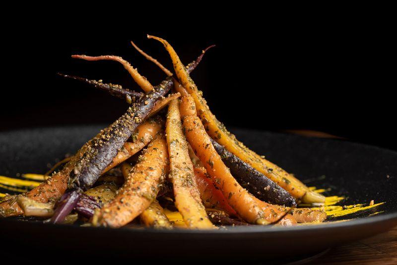 mixtape roasted carrots dark on plate