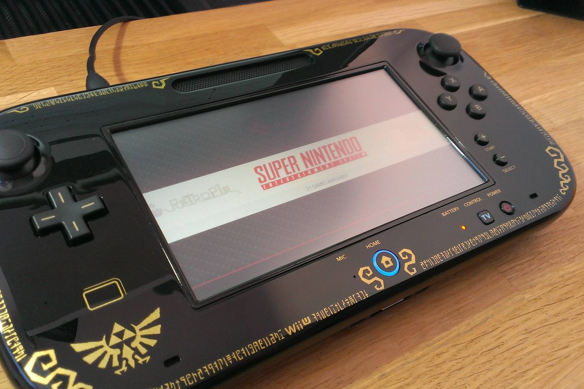 This wii u gamepad console hack is the next best thing to for Wii u portable mod