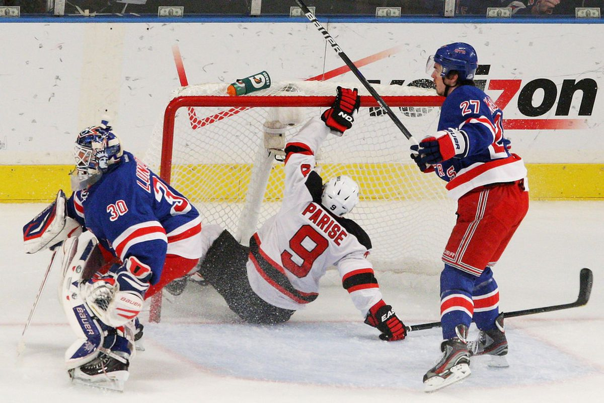 So far the only thing to get past Hank. (Photo by Bruce Bennett/Getty Images)