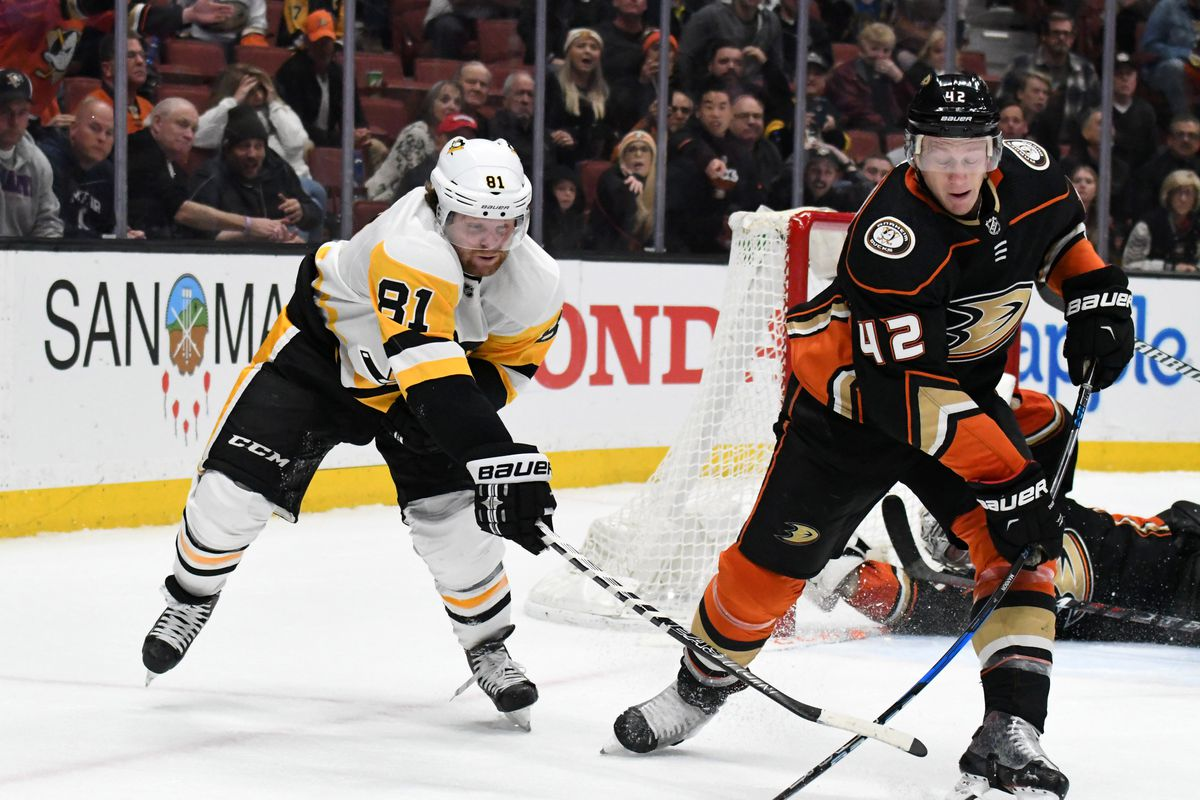 Pittsburgh Penguins Anaheim Ducks 1 11 2019 Lines Preview How