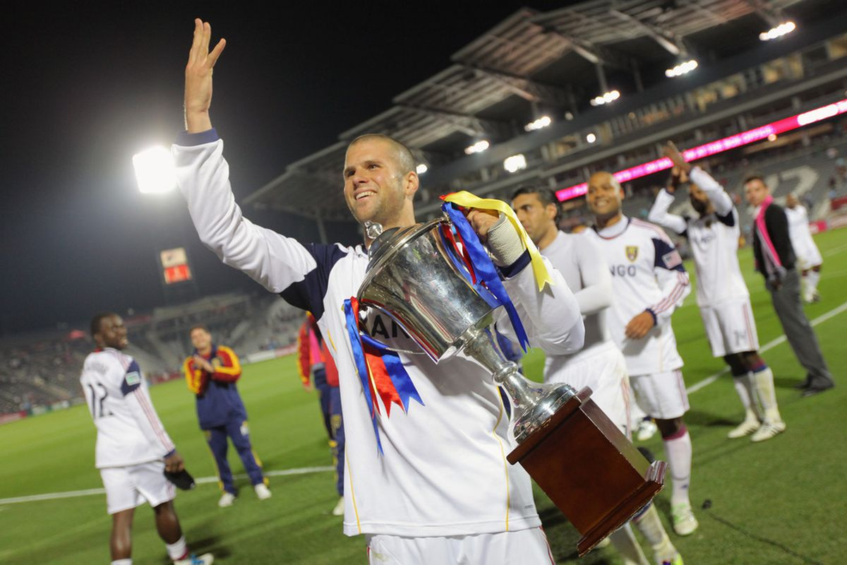 Chris Wingert has never lost the Rocky Mountain Cup, and if RSL can shake off their recent funk and get a win on Saturday, they could secure it for a 6th straight year. (Photo by Doug Pensinger/Getty Images)