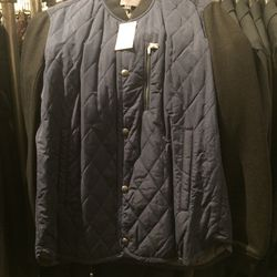 Quilted coat, size S, $149 (was $525)